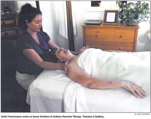 Nadia Faramarzpour - Sudbury Muscular Therapy
